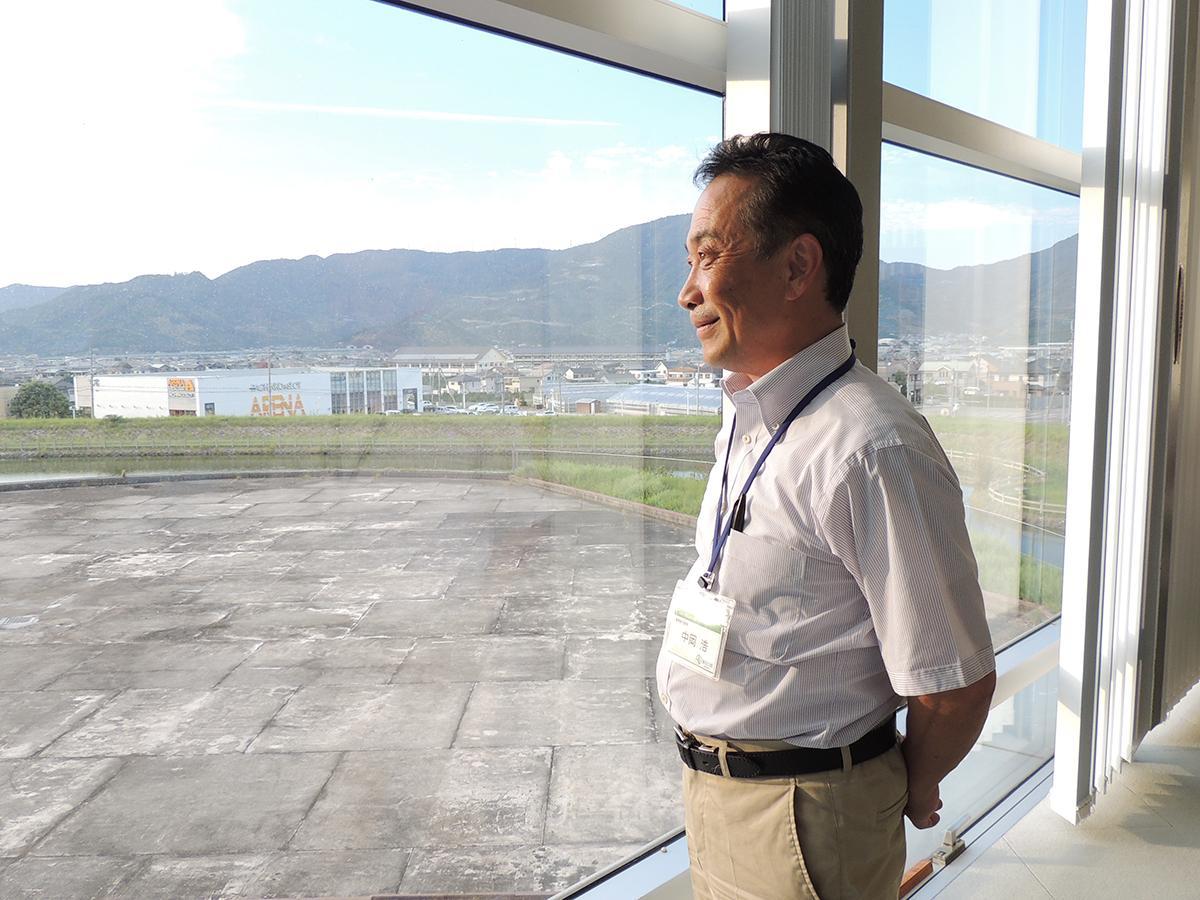 有田川町を見つめる中岡さん