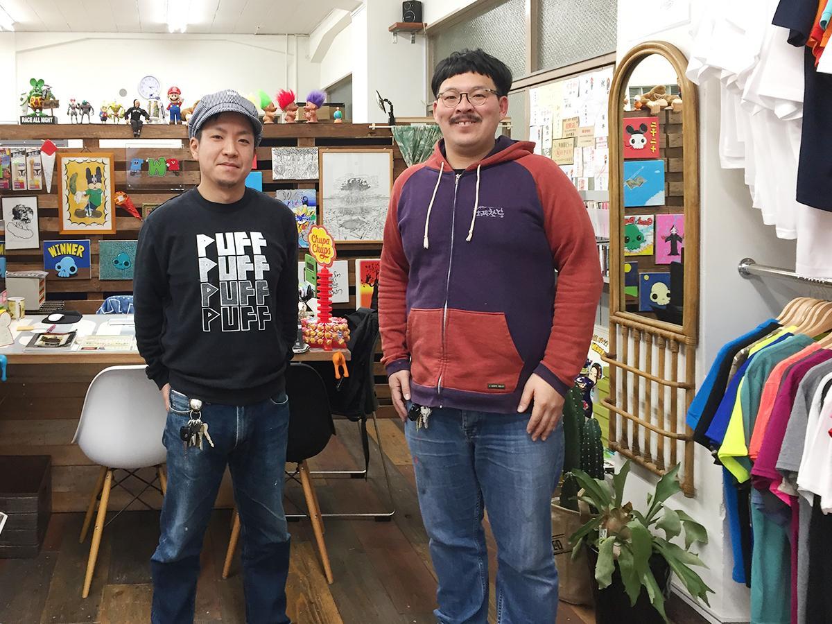 共同経営する信定数人さん(左)と辻岡大樹さん