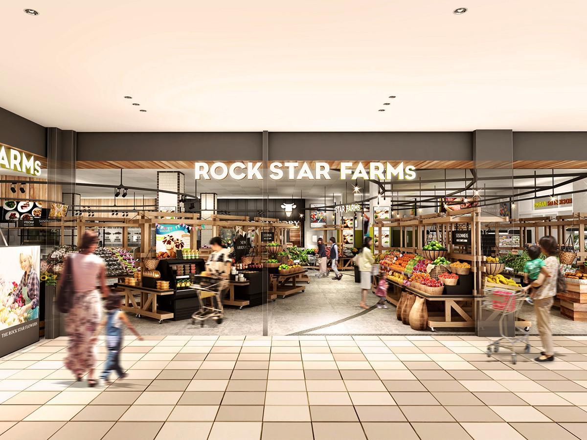 商業棟1階のスーパー「ロックスターファームズ」(イメージ図)