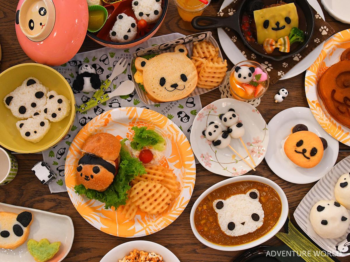 アドベンチャーワールドで提供するパンダモチーフ料理