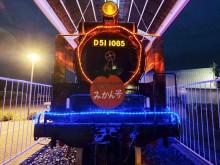 和歌山・有田川鉄道公園でデゴイチのイルミネーション 冬夜を彩る