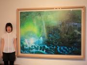 屋久島で油彩画家・高田裕子さん個展 屋久杉やコケの森みずみずしく描く