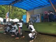 屋久島「楠川城祭り」 中世の合戦の舞台で火縄銃の演武
