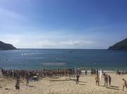 屋久島海開き オープンウオータースイミング大会で海水浴シーズン幕開け