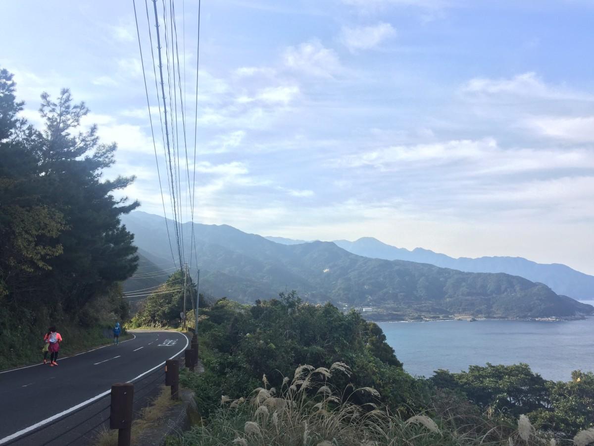 時折現れる海を見ながら屋久島1周駆け抜ける