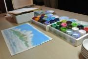 屋久島で「二三雲」描く制作実演 スタジオジブリの美術監督・山本二三さん来島