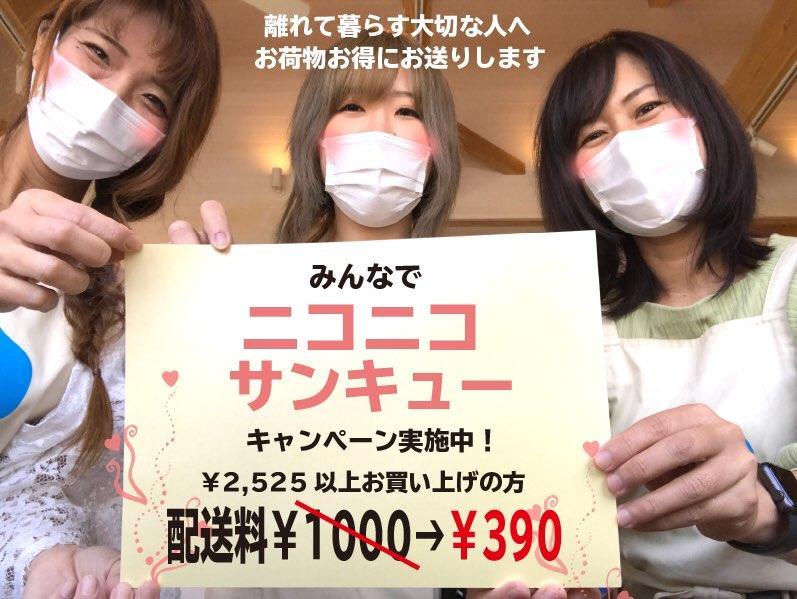 ニコニコサンキューキャンペーンは、2,525円(税別)以上の購入で送料390円(税別)