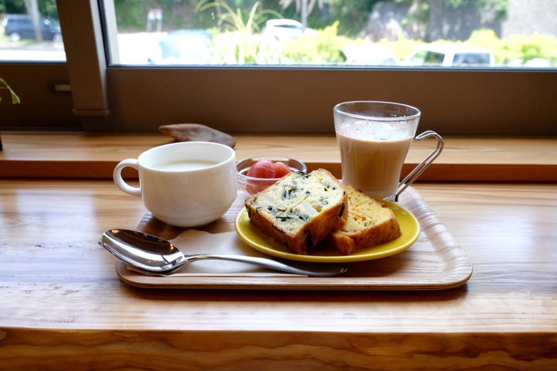 島野菜のケーク・サレとスープのセット(ドリンクはセット外)