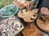 屋久杉と貝殻で世界に一つの時計作り体験 思い出を文字盤にちりばめて