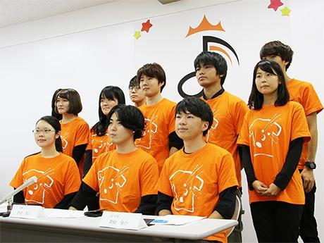 「オトナルヤマガタ YAMAGATA MUSIC FESTIVAL」を企画する東北芸術工科大学の学生たち