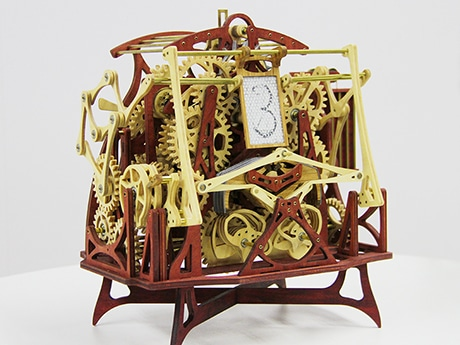 「書き時計」作者が新作公開 1/2サイズの3分タイマー