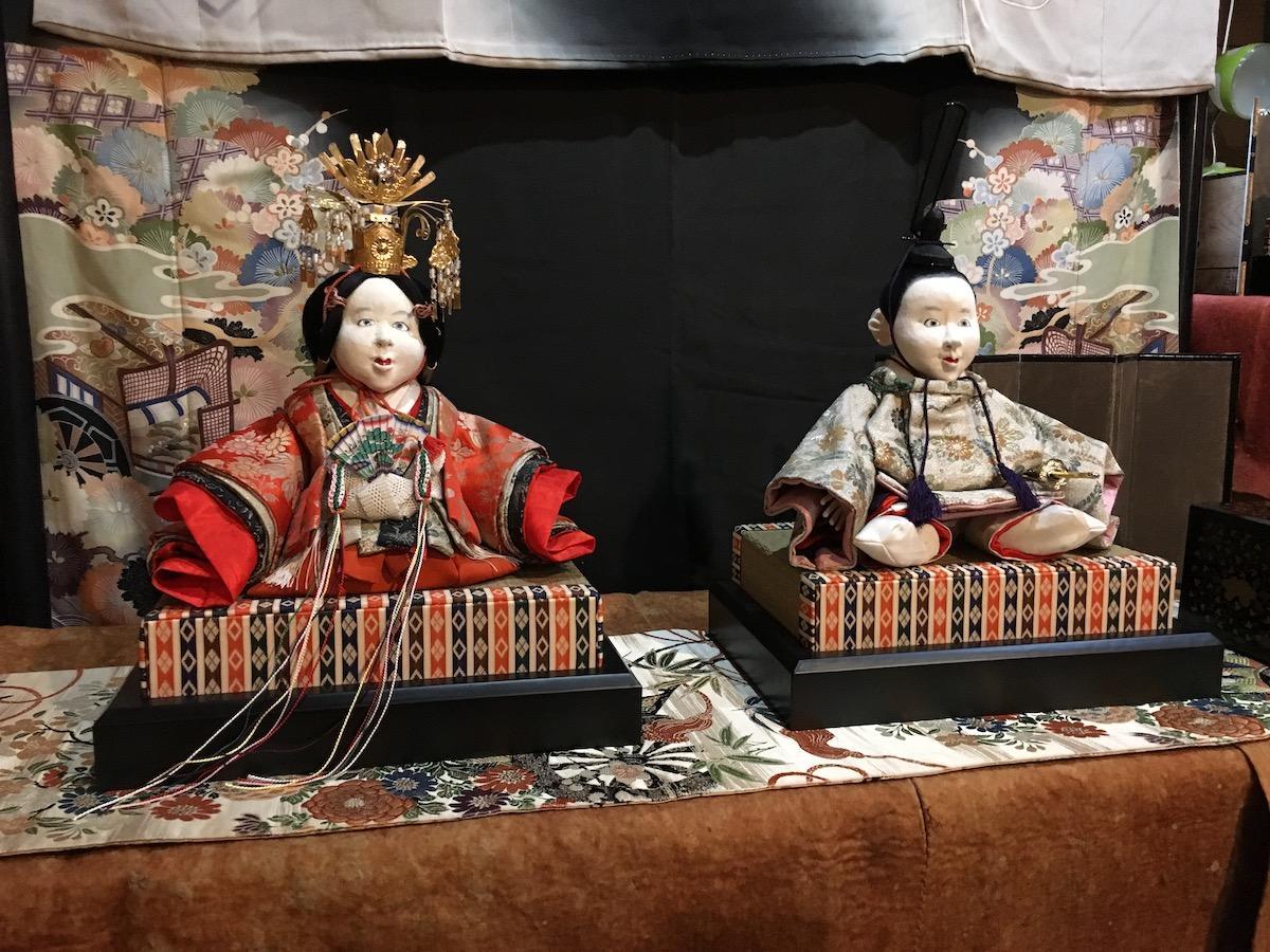 昨年展示された雛人形