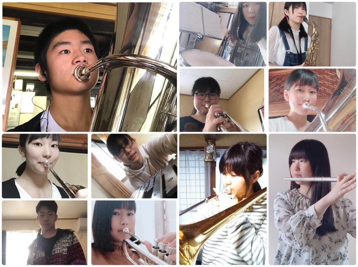 山形県立荒砥高校吹奏楽部がSNSに投稿している「#おうち時間」