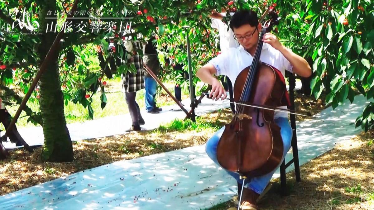 山形交響楽団による「こんなところで花笠音頭 vol.1」のワンシーン
