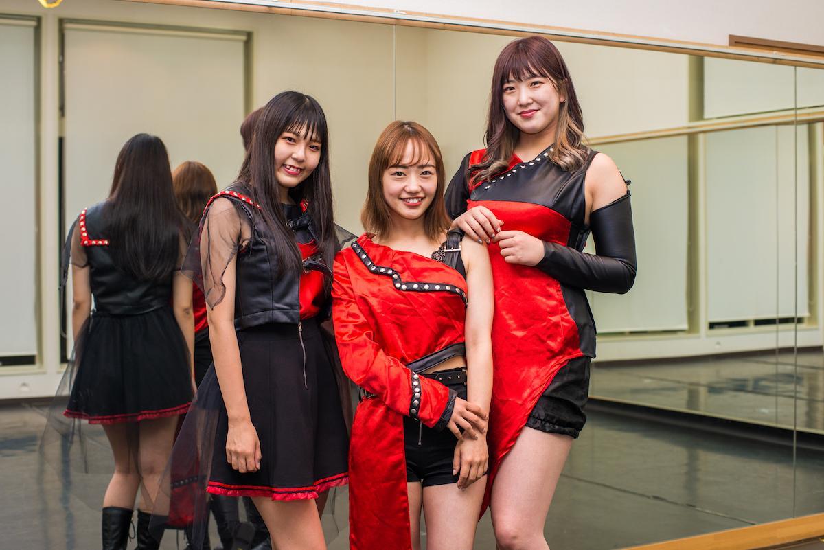 「MPF☆B」のメンバー(左から、ゆいさん、みちとんさん、Miinaさん)