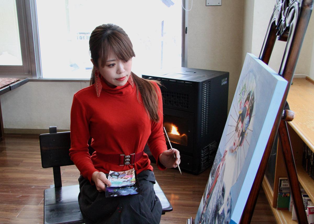 画家の小林舞香さん