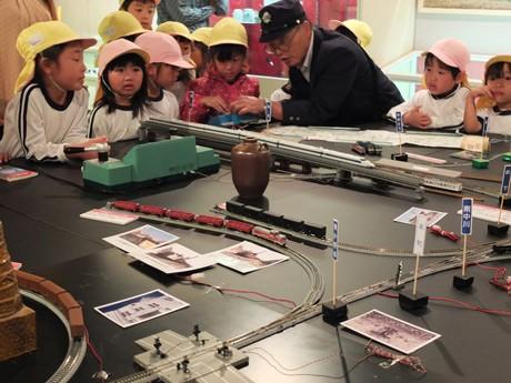 山陽小野田市歴史民俗資料館で始まった「鉄道展」