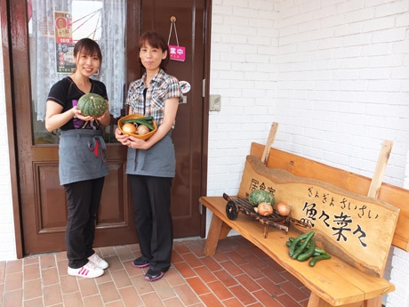 店頭で野菜の販売も行う「魚々菜々」