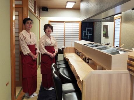 カウンター席も設ける「桜わか竹」
