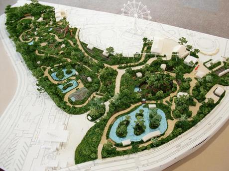 宇部ときわ公園動物園ゾーン完成模型 写真提供=宇部市雇用創造協議会
