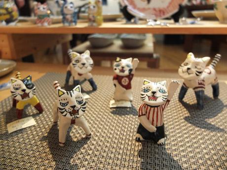 ART BOX CANで展示即売するネコをモチーフにした作品