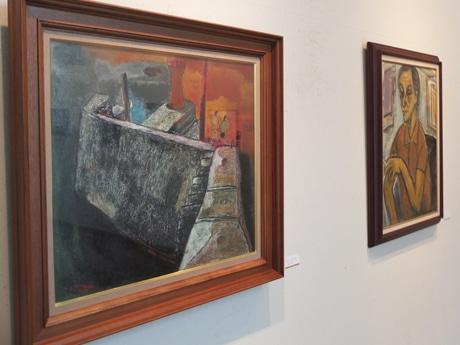 水彩画や油絵の作品40点を展示する