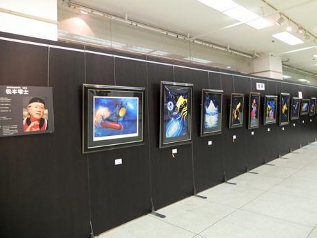 松本零士さんの作品「銀河鉄道999」などを展示