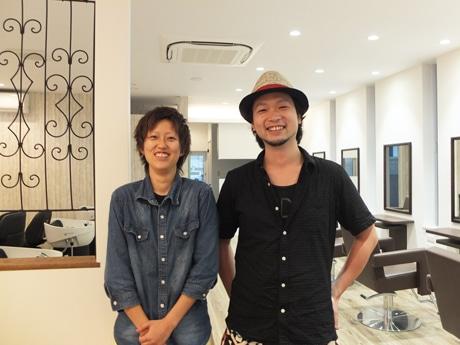 店長の榎本秀紀さんとスタイリストの友加里さん
