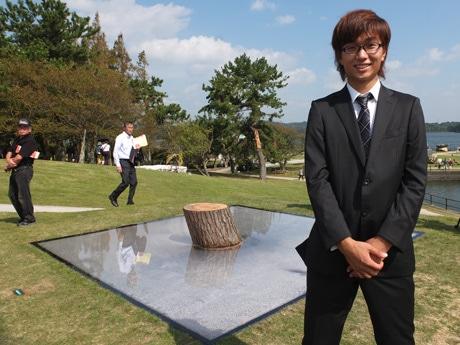 「第26回UBEビエンナーレ」で大賞を受賞した竹腰耕平さん