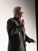 宇部の映画館で山田洋次監督、舞台あいさつ 映画「家族はつらいよ」先行上映で