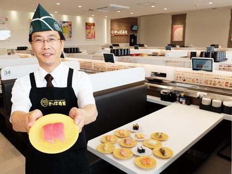 広めのボックス席を備える「かっぱ寿司宇部店」