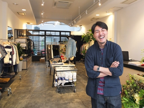 「ファッションを通して感性を伝えていきたい」と店主の福田さん