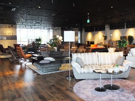 「Gallery宇部」2階に設ける家具展示コーナーの様子