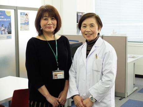 「地域の医師会とも協力してサポートできれば」と松田さん(右)