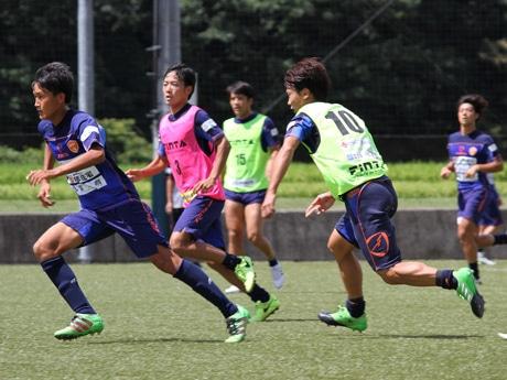 8月13日は「やまぐちサッカー交流広場」(徳地)で練習を行った
