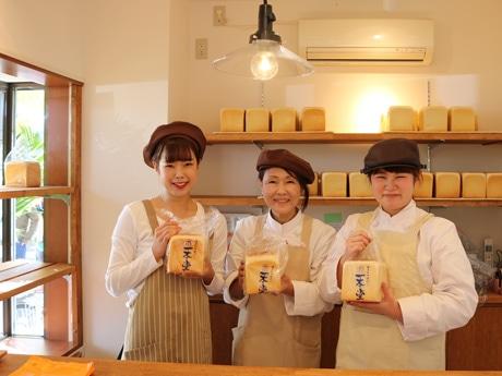 県内初出店の食パン専門店「一本堂」の店内
