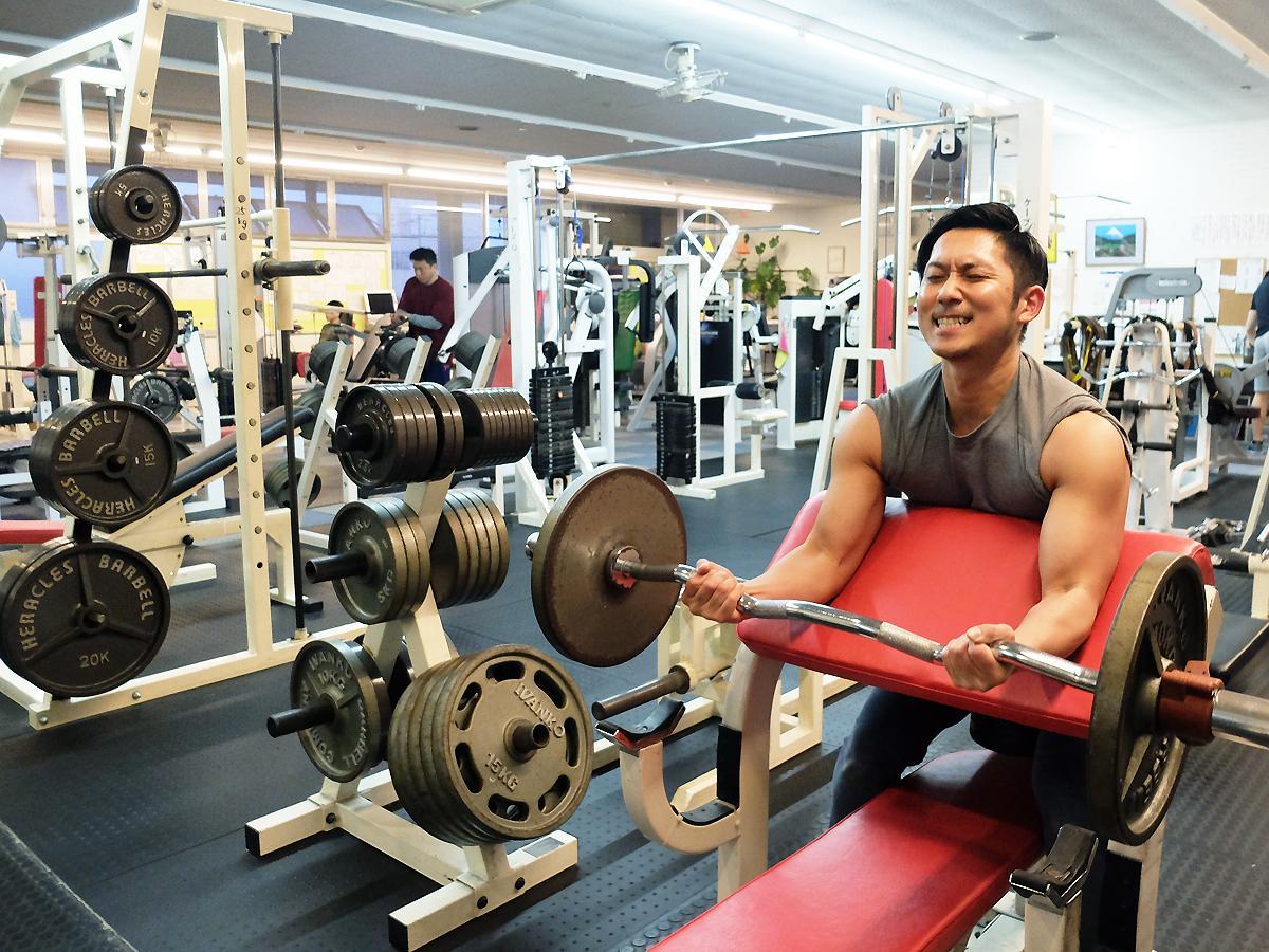 トレーナーの渡邉さん自身もストイックなトレーニングに励む