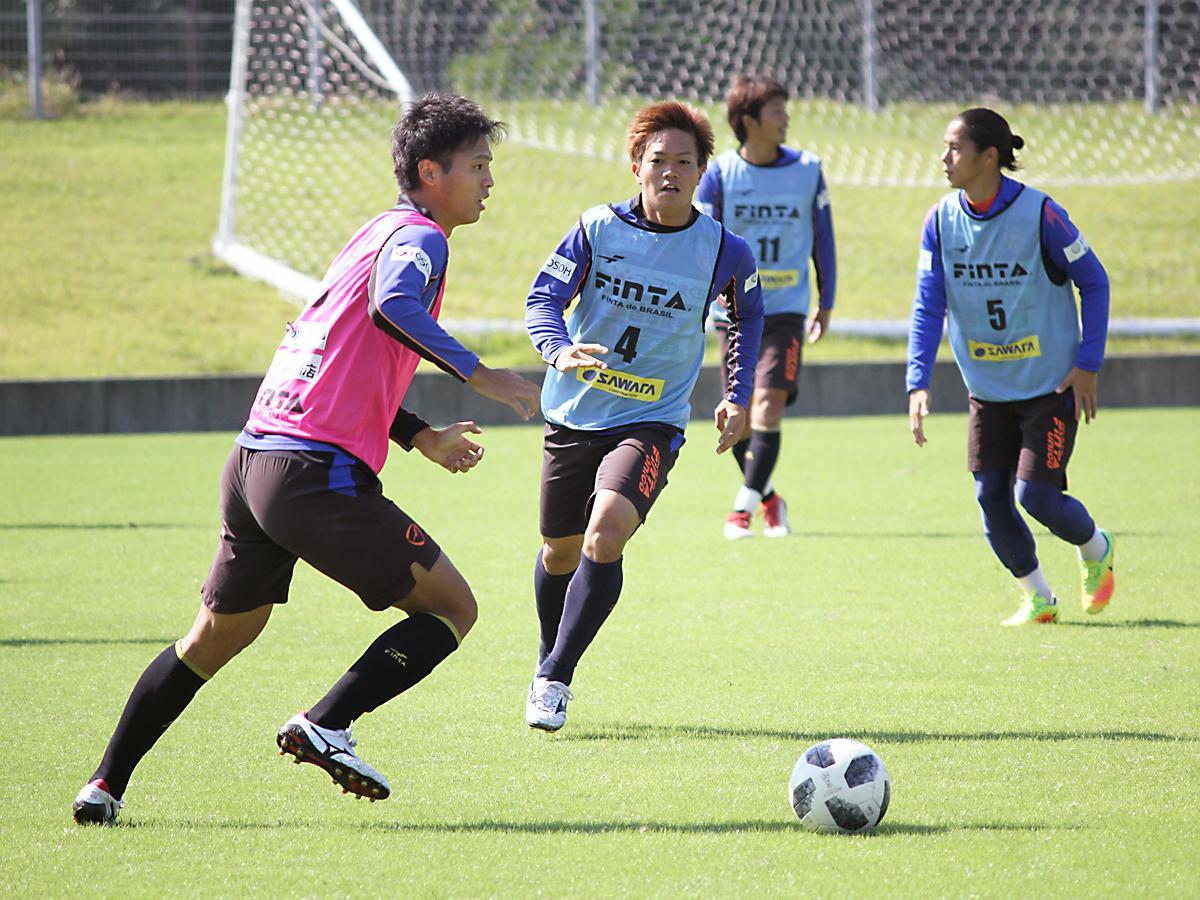レノファは今週、「県立おのだサッカー交流公園」(山陽小野田市)で練習を行った