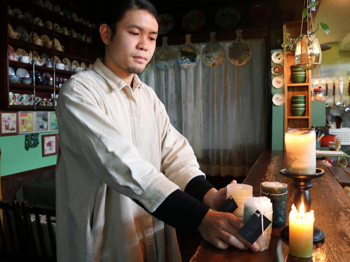 山口・阿東にキャンドル専門店「残」 地元出身店主「日常の癒やしと刺激に」
