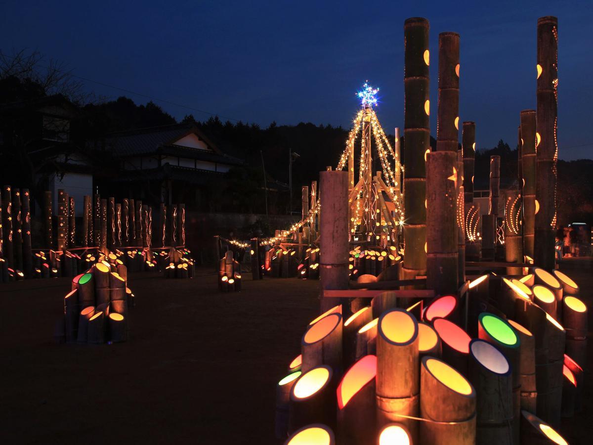 昨年の「たちくま竹灯籠ナイトクリスマス」の様子