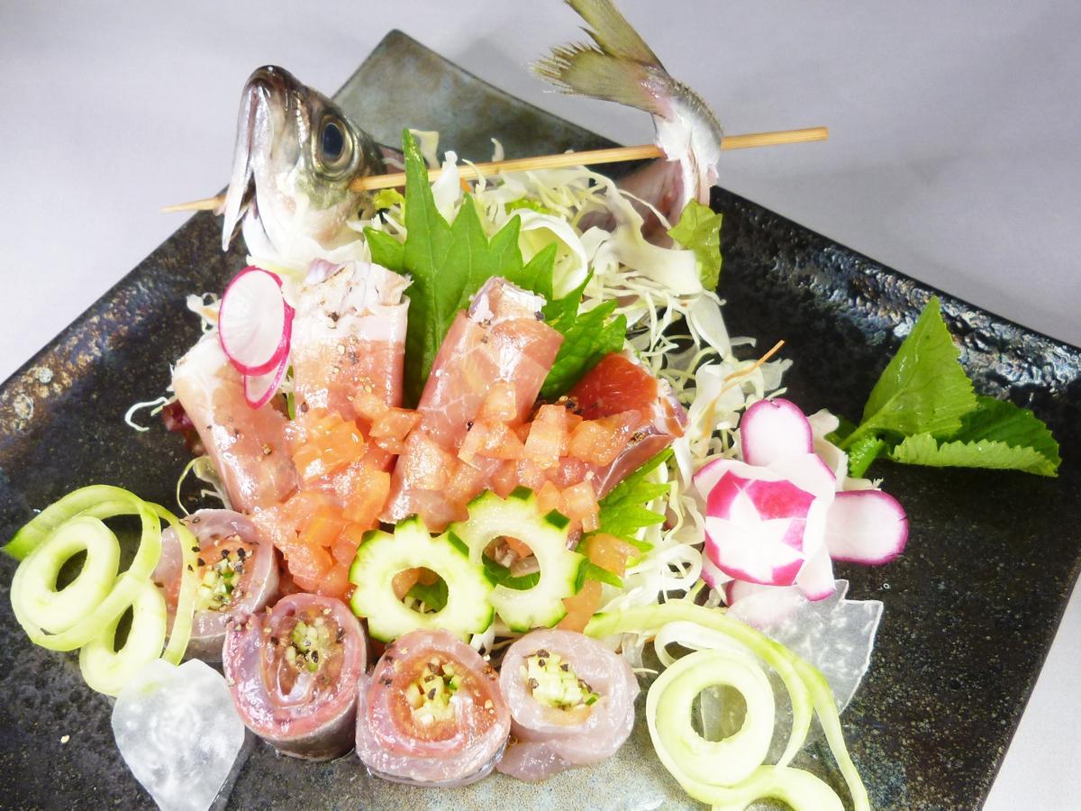 「瀬つきあじ」を使った創作料理を市内15店で提供