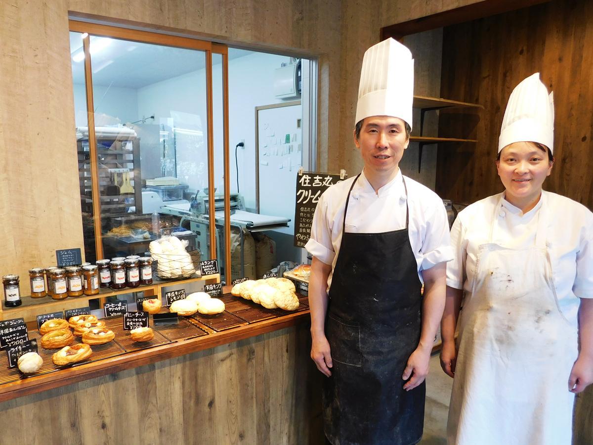 「ほかにはない製法のパンを萩の地で提供したい」と話す丸岡さん夫妻