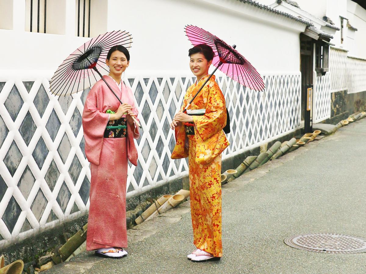 風情ある萩城下町の散策を着物で楽しむ