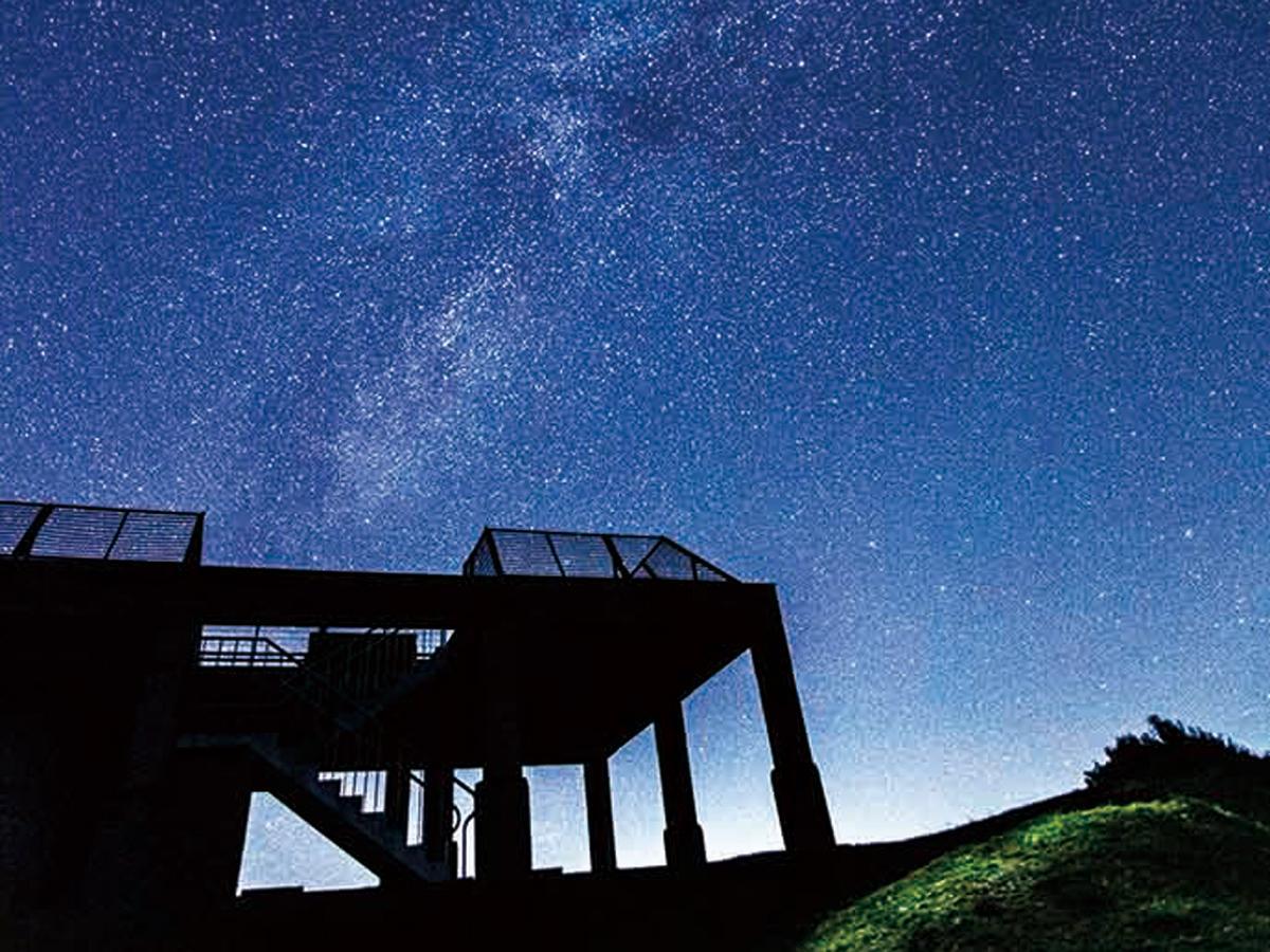 「美東町展望台」と星空