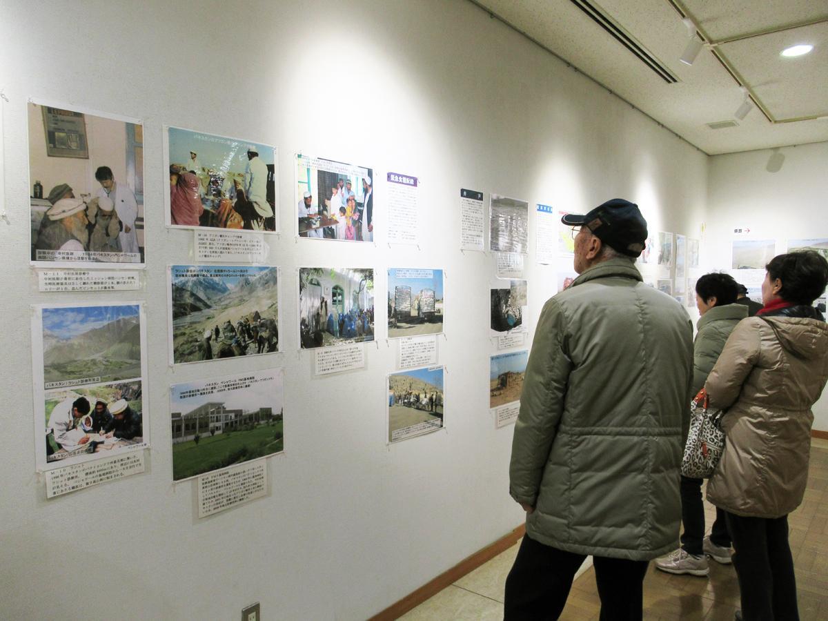 写真展では中村哲医師やペシャワール会の活動が紹介されている