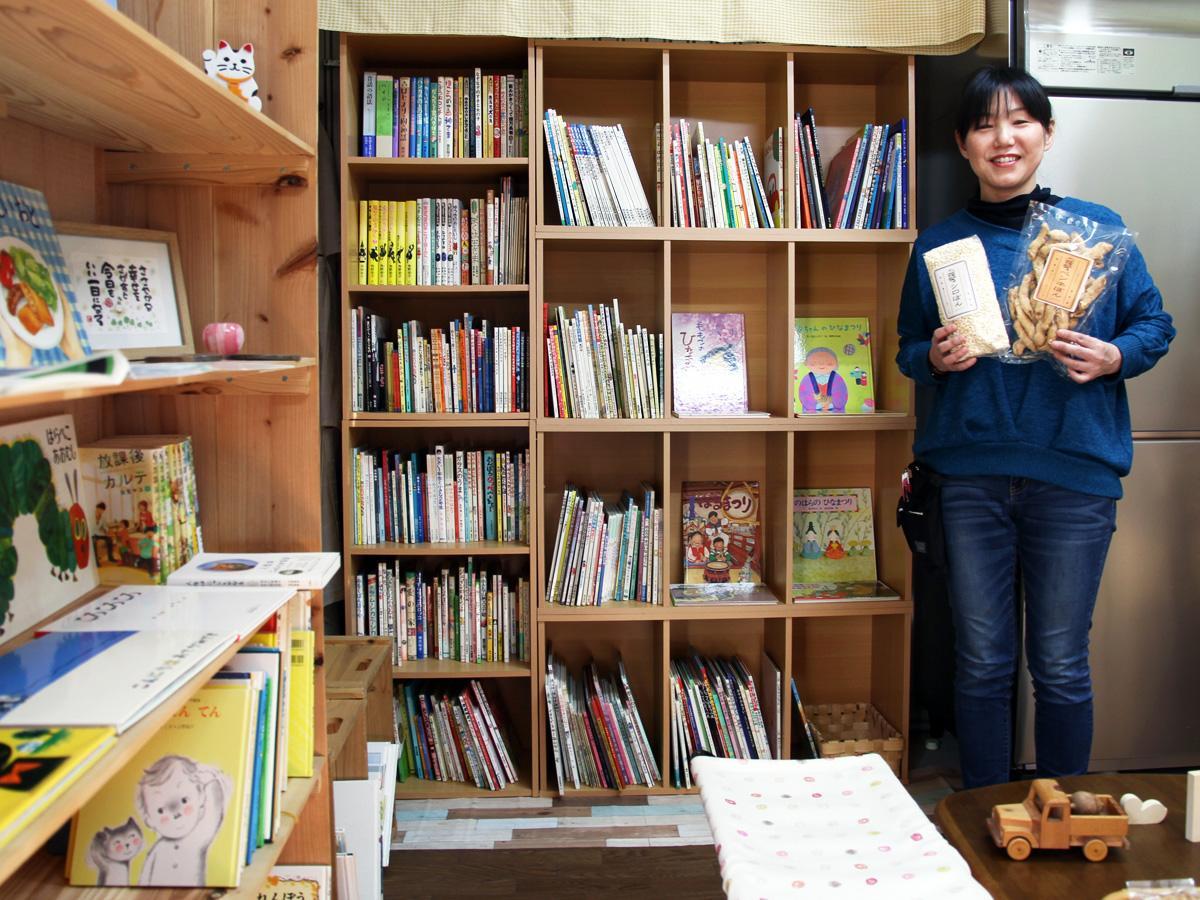 「ポン菓子と絵本を親子で楽しんで」と多原美加さん