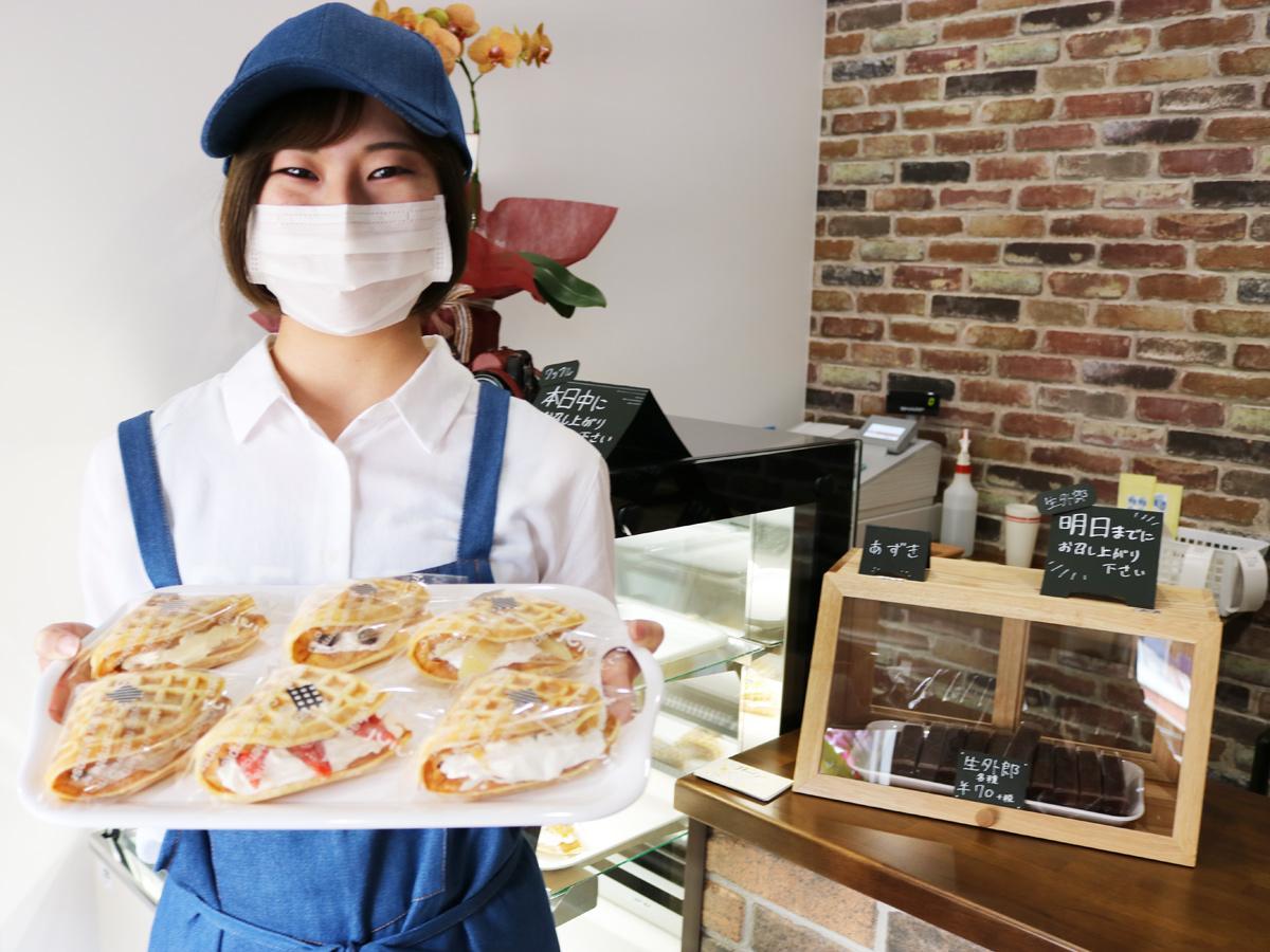 宇部に和洋菓子店「マンジュヤ」 万寿屋が初出店、手作りワッフルメインに