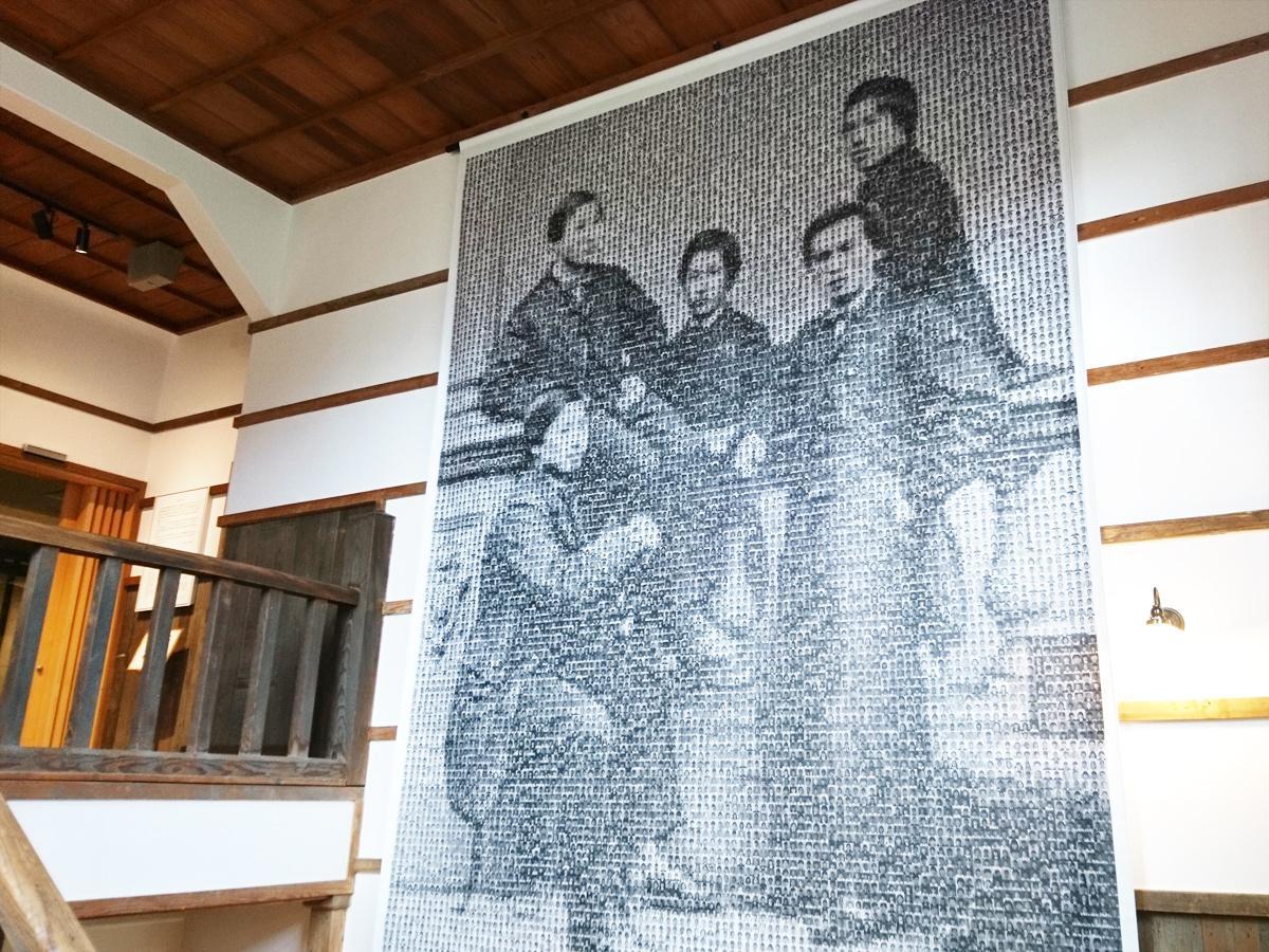 初代総理大臣・伊藤博文や鉄道の父・井上勝ら長州ファイブの特大アート