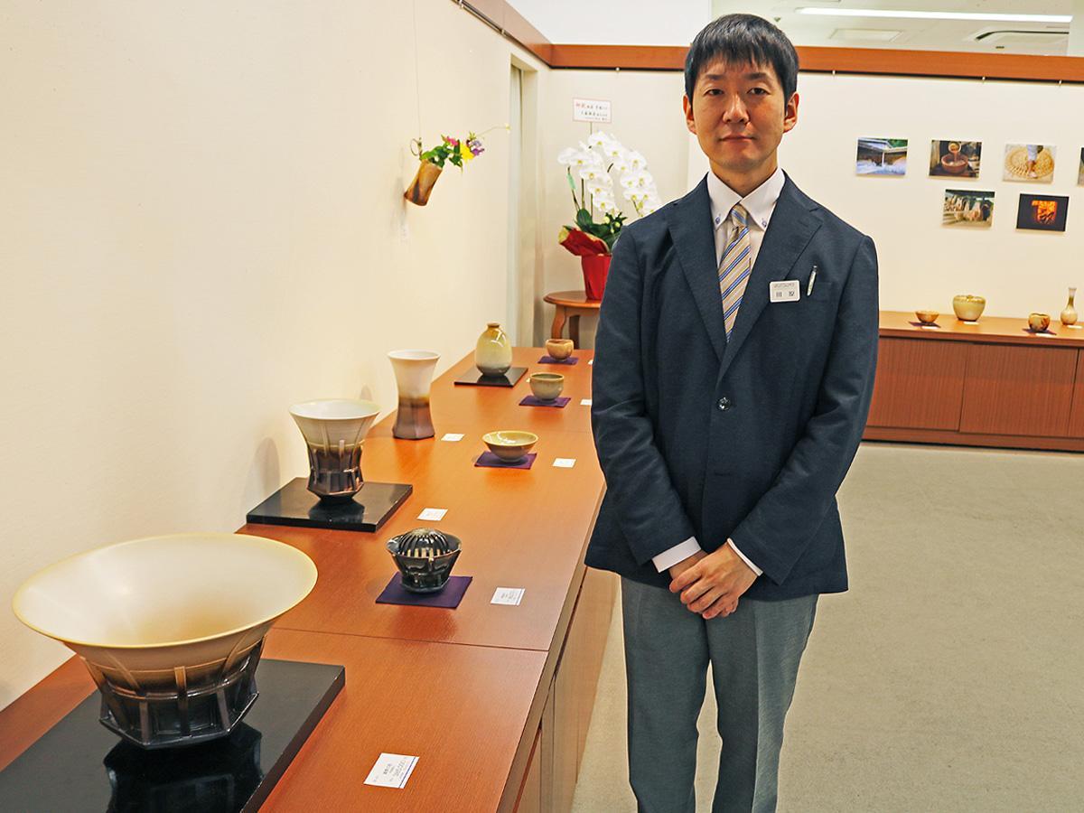 「萩焼の魅力を伝えていきたい」と田原崇雄さん