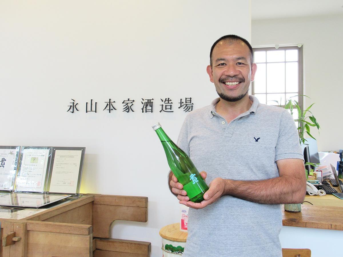 「財布に優しい、おいしい日本酒を」と永山貴博社長